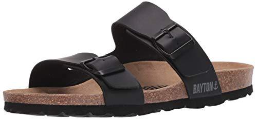 13 US Bayton Men/'s Zephyr-Noir Sandal 46 Medium EU Black//Blue