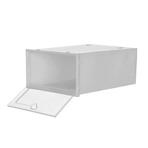 Caja de almacenamiento plegable transparente para zapatos, organizador de zapatos apilable, ahorro de espacio, caja de exhibición de zapatos maestros, 1 unidad, estante de zapatos y organizadores.