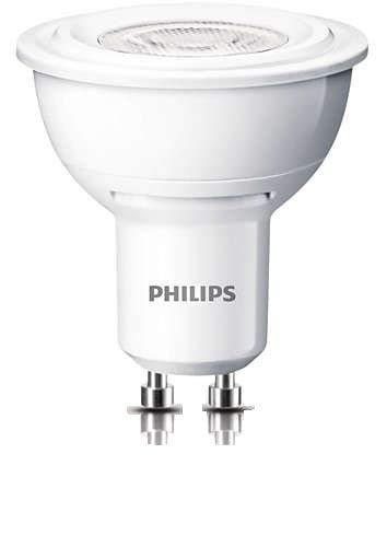 Philips Lampe à LED 3,5W, GU10 (équivalent à 35 watts)