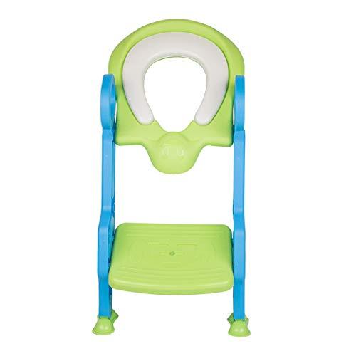 XL- Töpfchen-Trainingsleitersitz mit Spritzschutz, Toilettenstuhl für Kinder mit robustem, rutschfestem Pedal & Soft Cushion Step Boys & Mädchen Toilettentrainer mit Treppe