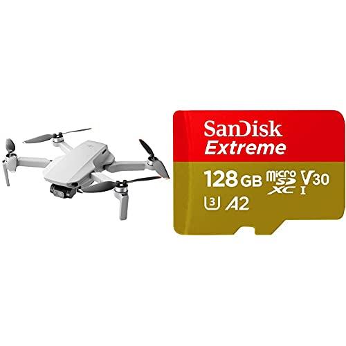 DJI Mini 2 - Ultraleggero e Pieghevole Drone Quadcopter + SanDisk Extreme Scheda di Memoria microSDXC da 128 GB