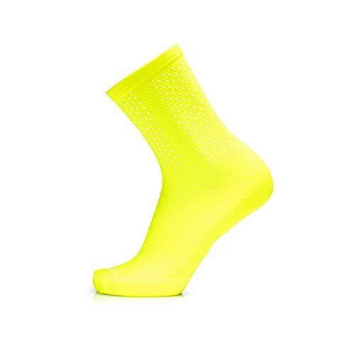 MB Wear Chaussettes Reflective-Jaune Fluo-L/XL (41-46) Mixte Adulte, FR : L (Taille Fabricant
