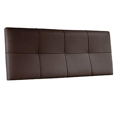 Medidas: 160 cm (ancho) x 55 cm (alto) x 4 cm (fondo). Cabecero acolchado modelo Square de un diseño elegante y sencillo que encaja a la perfección en cualquier tipo de dormitorio. Cabecero acolchado acabado en piel sintética color chocolate con cost...
