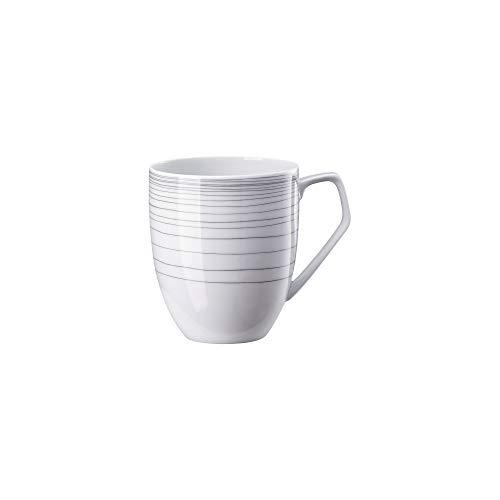 Rosenthal - TAC Gropius - Stripes 2.0 - Becher mit Henkel/Henkelbecher/Tasse - Porzellan - 360 ml