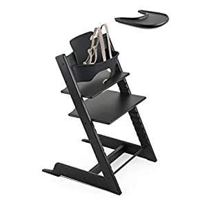 Amazon.com: Stokke – Tripp Trapp Bundle – Black High – Silla ...