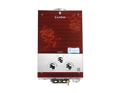 Candes 7 Litre. Instant 100% Copper Tank with Anti Rust Coating Body to Saves Your Geyser from Corrosion by Water, ISI Approved LPG Gas Water Heater (Glassy,Silver Brown,900gm)