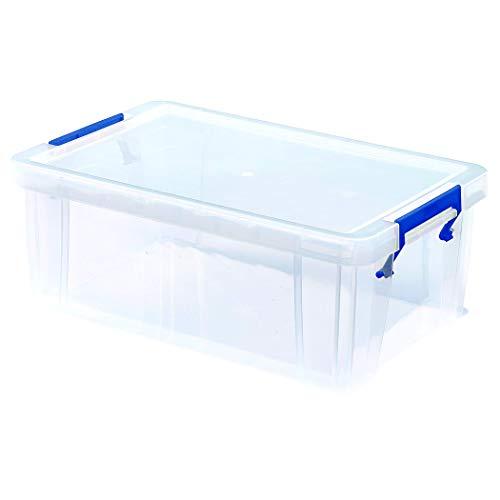 BANKERS BOX ProStore Aufbewahrungsbox mit Deckel 10 Liter aus Plastik (Innenmaße 14 x 34 x 21.5cm), 1 Stück