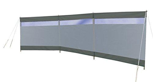 Bo-Camp - Tela Cortavientos con Ventana, Gris, 500 x 140 cm