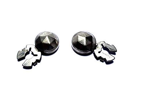 artesanal 1 par de cubrebotones 18 mm diamante de punta col. Plata antigua cubre botones para camisas mujer o puños joyas hombre de regalo llavero