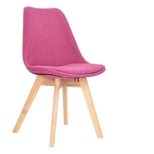 LY88 Stuhl Massivholz Esszimmer Moderner minimalistischer Stoff Freizeit Empfang Zurück Nordischer Tisch, 2