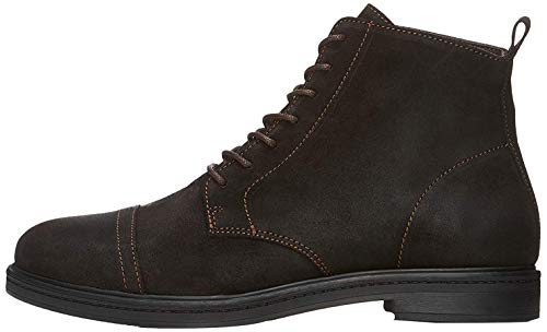 find. Leather Lace Up Stivali western Uomo, Marrone Scuro (Brown Brown), 43 EU