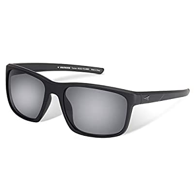 KastKing Toccoa Polarized Sport Sunglasses for Men and Women, Matte Blackout Frame, Smoke Lens
