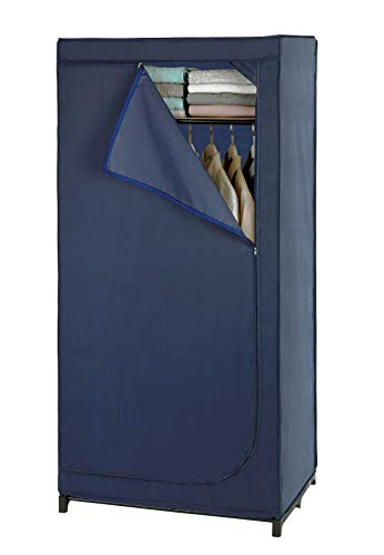 WENKO DIE BESSERE IDEE Armario ropero, Azul Oscuro, 30 x 122 x 30 cm