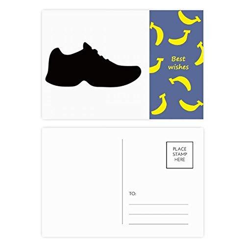 DIYthinker Heren Zwarte Sportschoenen Silhouette Patroon Banaan Postkaart Set Thanks Card Mailing Zijkant 20 stks 5.7 inch x 3.8 inch Multi kleuren