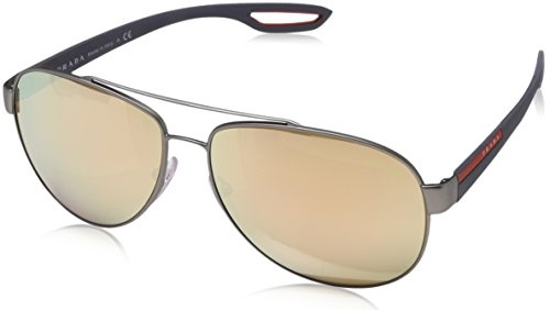 Prada Sport 0PS55QS DG16Q2 59 gafas de sol, Gris (Gunmetal Rubber/Light Brown Pink), Hombre