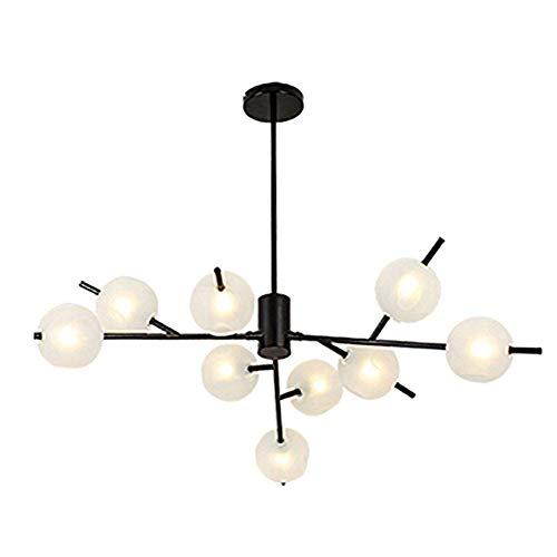 ZRABCD Lámpara Lámpara Colgante Lámpara de Techo Lámpara de Techo 15 S Sputnik Mid Century Accesorio Moderno Lámpara Colgante Ajustable para Cocina Comedor Sala de Estar,Negro,9 Luces