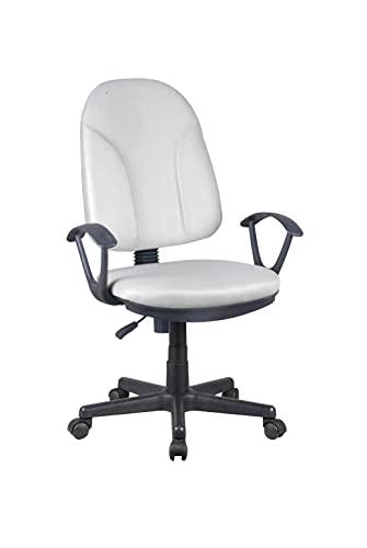 AVANTI TRENDSTORE - Alano - Sedia d'ufficio girevole e regolabile in altezza. Disponibile in due colori diversi. Dimensioni LAP 58,5x92-102x61 cm (grigio - nero)
