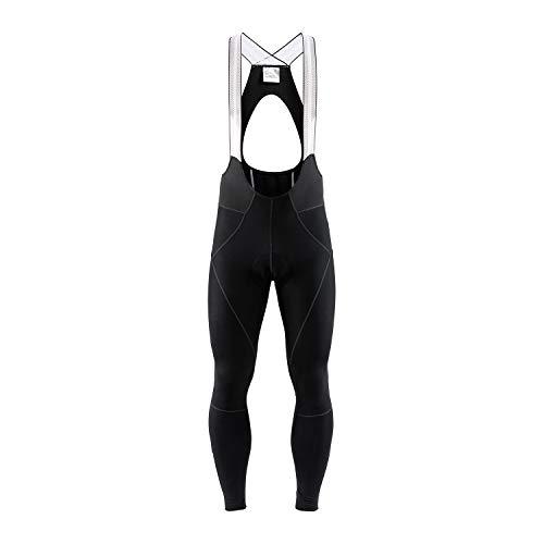 Craft Ideal Pro Pantalon thermique réfléchissant pour homme avec protection chamois coupe-vent et imperméable Noir Taille S