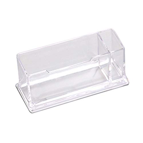 WEQQ Business Card Holder Display Stand Desktop Countertop Business Card Holder Transparent
