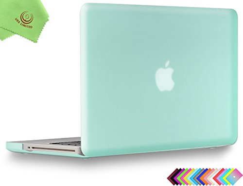 UESWILL Smooth Soft-Touch Matte Hard Shell Case Cover for MacBook Pro 15 inch with CD-ROM (Non-Retina) (Model A1286) + Microfibre Cleaning Cloth, Green