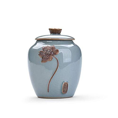 Alqn Cremación Entierro primitivo Ceniza Entierro de ceniza Cerámica primigenia Recuerdo de cerámica hecho a mano primigenio,Azul-2