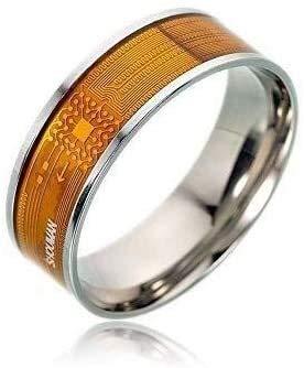 NFC Smart Ring, Multifunctionele Waterproof Intelligent Ring for mannen en vrouwen, Wearable Finger Digital Ring Smart deurbel for Android en Windows-telefoons met NFC-functie 2Pack (Maat: 9#)