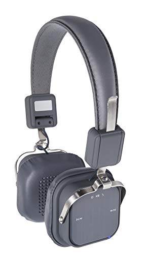 Northpoint Bluetooth Kopfhörer On-Ear Freisprechfunktion Mikrofon NFC 600mAh Akku für 15h Dauerbetrieb Grau