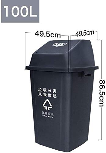 Find Bargain LSLMCS Charles Bentley Outdoor Household Waste Medium Rubbish Wheelie Bin - Lightweight...