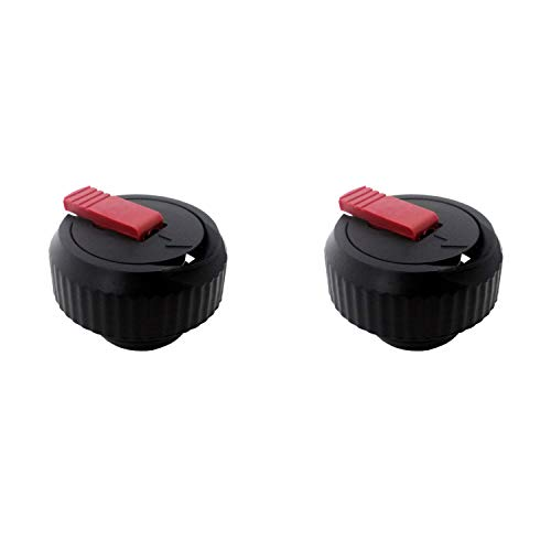 Emsa 9618041600 Ersatz-Verschluss für Isolierflasche Senator 0,35-1,0 l, schwarz (2 Stück)