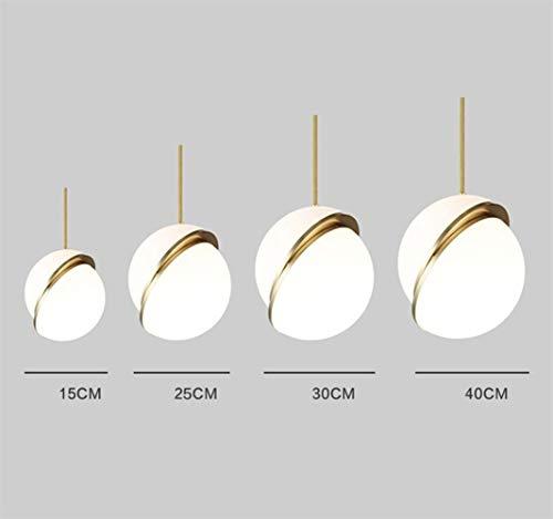 Simple lámpara colgante moderna lámpara de la lámpara de la sala Comedor Dormitorio de noche Decoración esférica de la lámpara, una sola cabeza blanca-15cm Crocs (Color : Single Head White15cm)