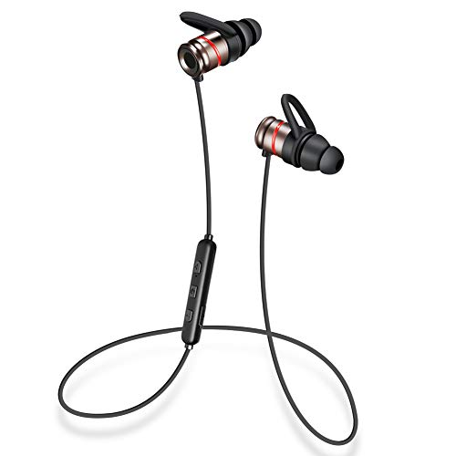SANKUA Bluetooth イヤホン AAC/APT-X対応 カナル型 軽量 IPX5防水 8時間連続再生 スポーツ用 マグネット機能 CVC6.0 マイク内蔵 ハンズフリー通話 2台接続 iPhone/Android対応