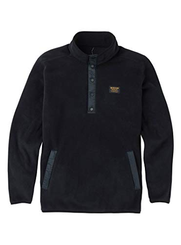 Burton Men's Hearth Fleece Pullover, True Black, X-Large