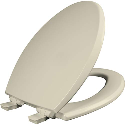Mayfair 1847SLOW 006 Kendall Slow-Close, Removable Enameled Wood Toilet Seat that will Never Loosen, 1 Pack ELONGATED - Premium Hinge, Bone