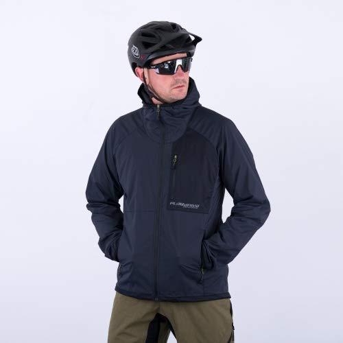 ruimteangst Hooded Airy fiets jas heren zwart windjack windbreaker MTB DH Freeride