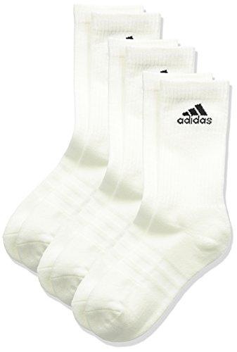 adidas Unisex 3S Performance Crew C Socken 3 Paar , Weiß (White/Black) , 43-46