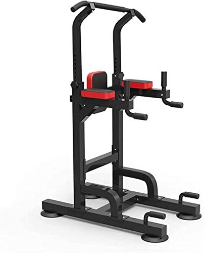 Power Tower Entrenamiento Antideslizante Tracción Bar Aptitud Multifunción Estación Fitness Home Gym Gym Gimnasia para la Fuerza Hogar Formación FTN Equipo de Entrenamiento-Negro