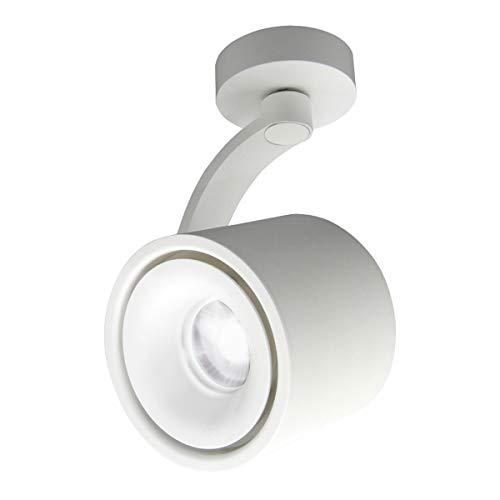 HAOFU 10W LED Spot light Faretti da soffitto orientabile/Faretto Lampada/Lampade da soffitto/6000K bianco freddo/Aluminum(Bianco)