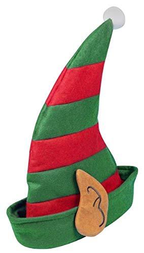 Boys OR GIRLS SCHOOL CHRISTMAS PARTY ELF PIXIE SANTA'S HELPER HAT WITH EARS (gorro/sombrero)