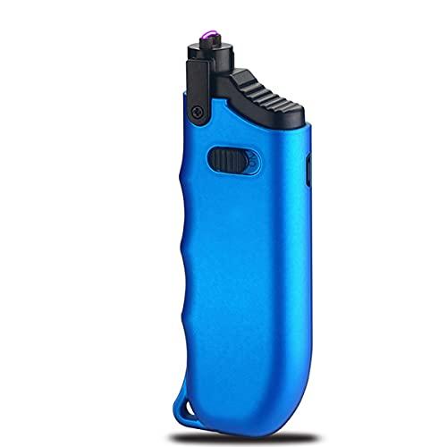 LGQ Encendedor de Velas, Cuello Ajustable y Encendedor eléctrico de Carga USB, Uso para Cocina, Barbacoa, Velas, Camping, Fuegos Artificiales,Azul