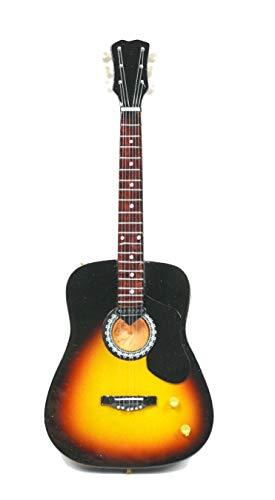 Miniatur Gitarre Deko Mini guitar accustic sunburst 24cm Handarbeit aus Holz #189
