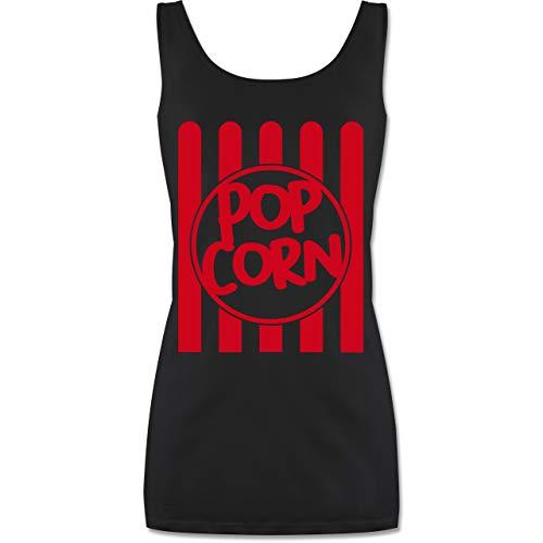 Shirtracer Karneval & Fasching - Popcorn Karneval Kostüm - M - Schwarz - Popcorn Fasching Damen - P72 - Tanktop für Damen und Frauen Tops