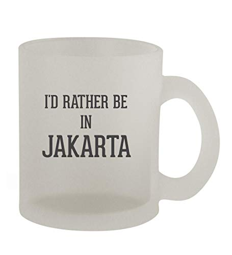 I'd Rather Be In JAKARTA - 10oz Frosted Coffee Mug Cup, Frosted