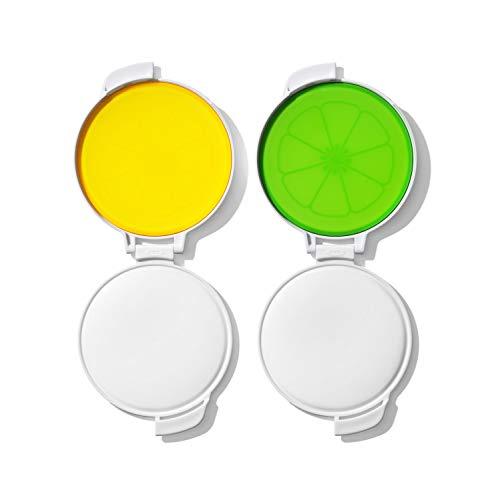 OXO Good Grips Cut & Keep Citrus Saver Set, Lemon/Lime,Multicolor,One size
