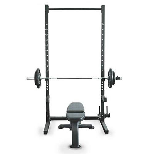 Rack para Supino e Agachamento Profissional - Squat Rack com Barra para Pull Up - Rae Fitness
