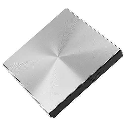 Controlador de DVD de CD externo USB 3.0 para computadora portátil, Reproductor externo de lector de grabadora de CD/DVD portátil delgado, 5 Gbps, para Windows XP/2003/8/Vista/7, para Linux,para Mac