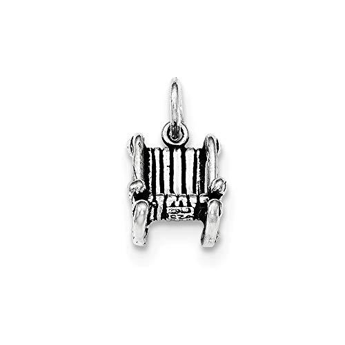 925 sterling zilver, antieke schommelstoel, hanger.