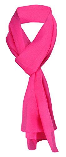 TigerTie Damen Chiffon Halstuch pink Uni Gr. 160 cm x 36 cm - Schal