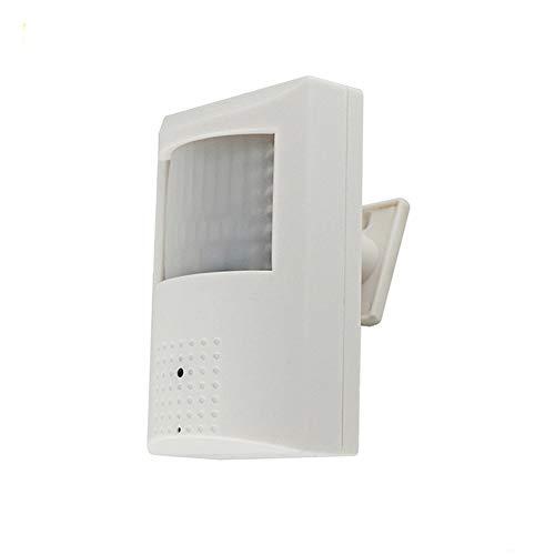 Nightking Interior 1080P PIR carcasa oculta de seguridad espía cámara estenopeica, 48 piezas 940 nm invisibles, 4 en 1 TVI/AHD/CVI/960H, lente estenopeica de 3,7 mm, cable conmutable por goteo