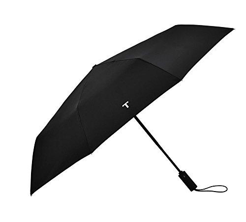Negro Ligero Compacto Totalmente Automático Paraguas de Viaje Plegable Doble Persona Paraguas...
