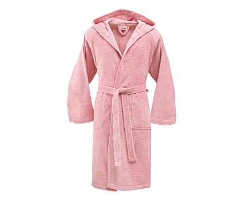 Bassetti - Albornoz con capucha para hombre/mujer, disponible en varias tallas y colores, 100% algodón rosa Rosa 180_x_300_cm